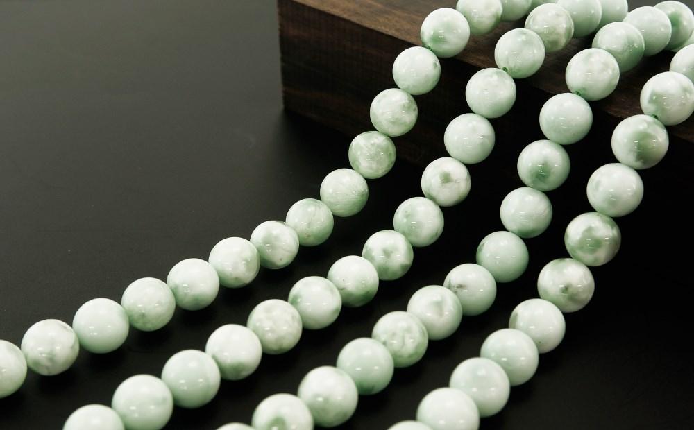 ドミニカ共和国産 グリーンラリマー (緑海紋石) 10mm 一連 連売り 素材 パーツ 丸玉 天然石 パワーストーン material