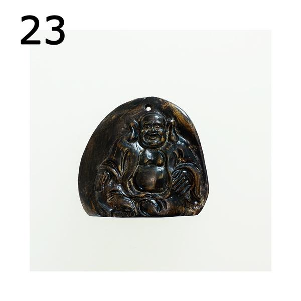 最高の香木★沈香(じんこう) アロマ 水沈香 手彫り<布袋様> 置物 ペンダントトップ (24g)