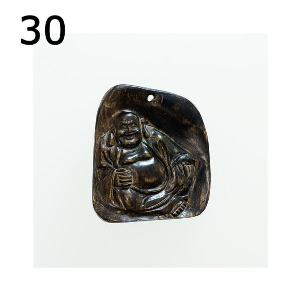 最高の香木★沈香(じんこう) アロマ 水沈香 手彫り<布袋様> 置物 ペンダントトップ (25gアップ)