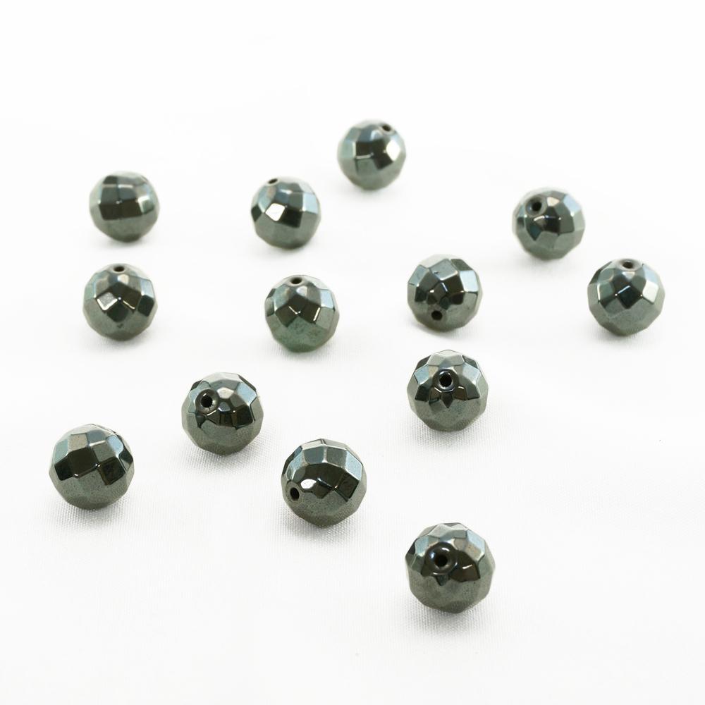 磁気有 ラウンドカット ヘマタイト(12mm) 一連 連売り 素材 パーツ