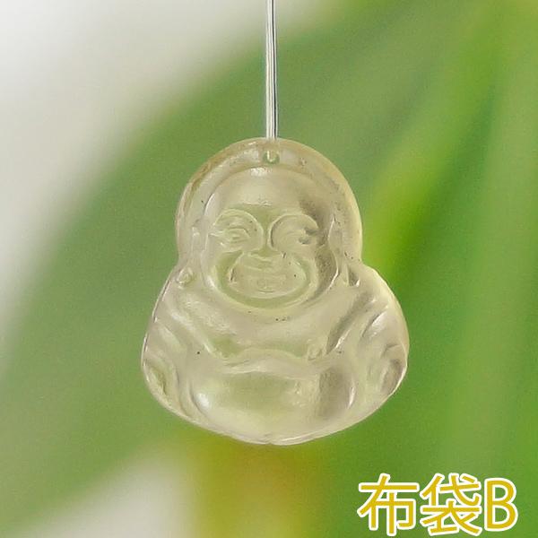 レモンクォーツ・アメトリン彫刻 観音様・布袋様(小)