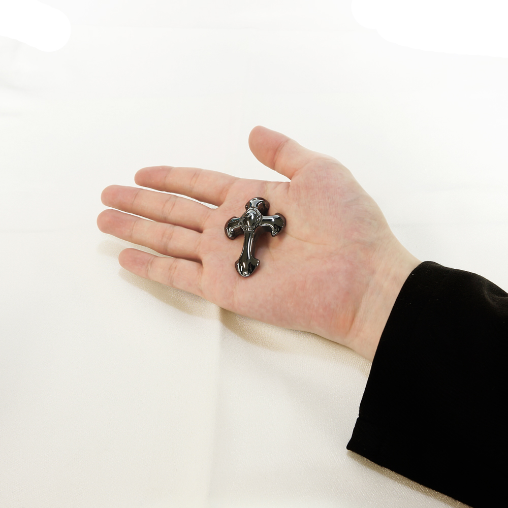 ドイツ産 テラヘルツ鉱石 【クロス】 ペンダントヘッド 人工鉱石 テラヘルツ波