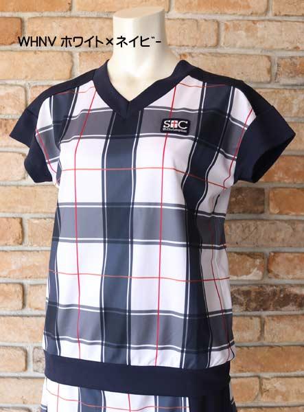 【セントクリストファー】 St.Christopher STC-BAW6263 2021秋冬(レディス)Vネックチェックゲームシャツ
