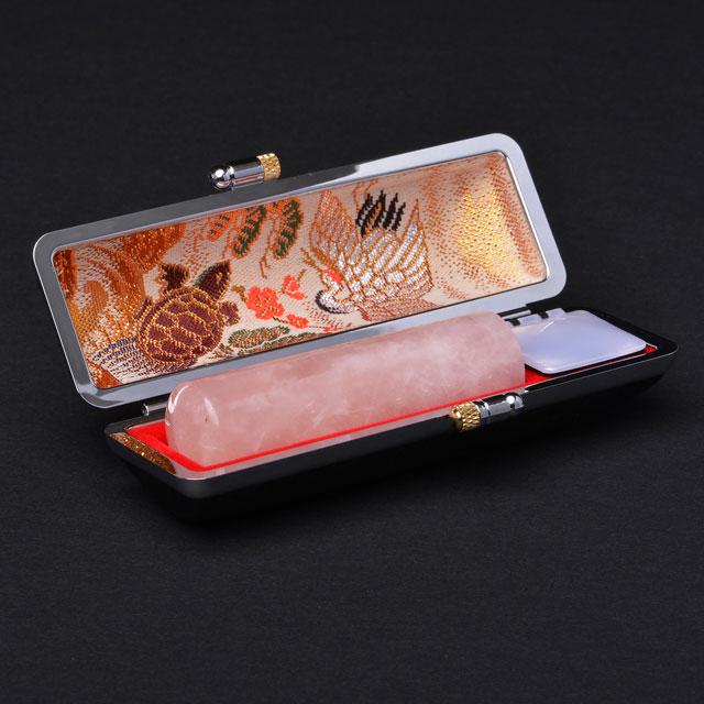 実印 宝石印   ローズクオーツ(紅水晶) 18ミリ丸