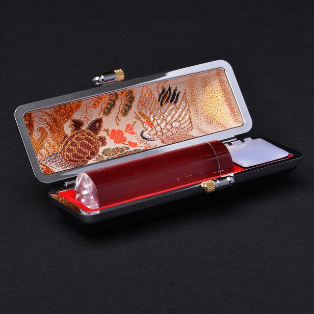 実印 宝石印   天然白水晶(クリスタル) 16.5ミリ丸