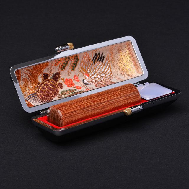 銀行印 彩樺(茶) 10.5ミリ丸