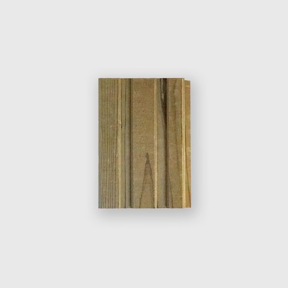 簡単に設置できる木製タイル MUKUタイル ストレートタイプハーフサイズ  12個セット