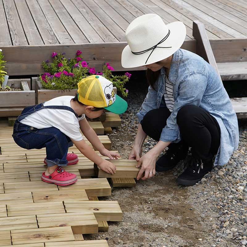 簡単に設置できる木製タイル MUKUタイル サンプルセット