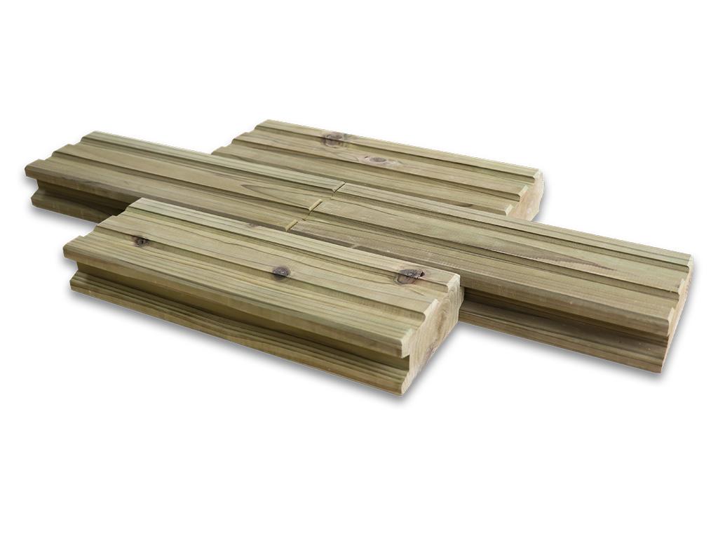 簡単に設置できる木製タイル MUKUタイル ストレートタイプ 6個セット