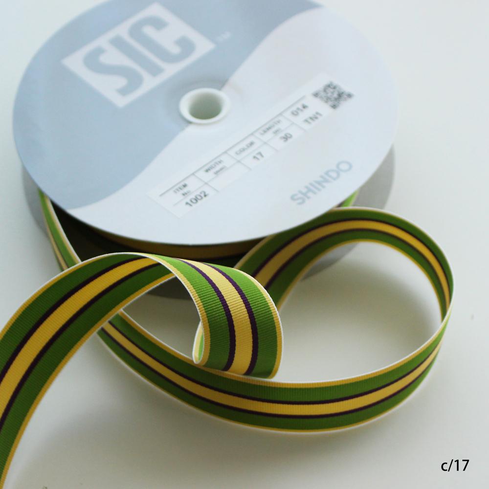 【8色】1002-30mmストライプリボン ストライプテープ(縞グログラン)