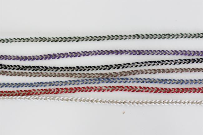 【7色】No,1170-4mm リネントリムコード リネン100% 2カラーブレード