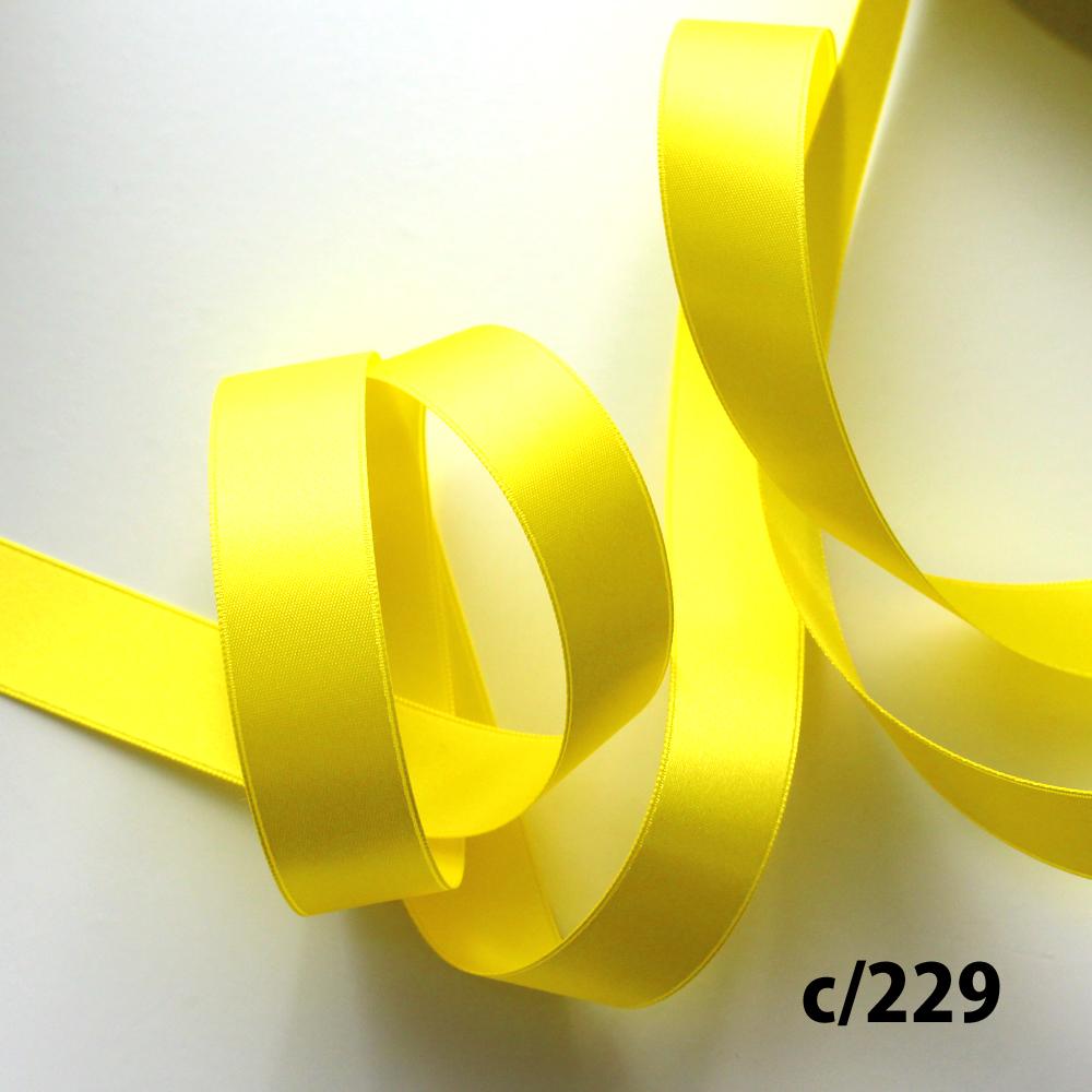 間違えて仕入れちゃったSALE!40%オフ!!No,6200-18mm/c229黄色 ポリエステル両面サテンリボン 30m巻