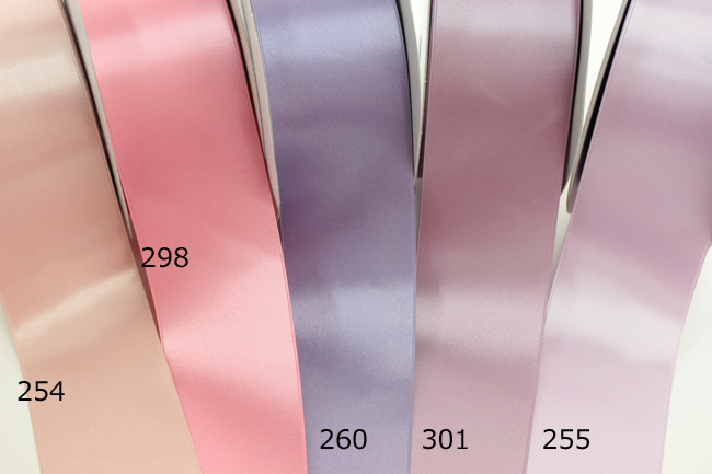 ★32色★ウエディングのサッシュベルトに!【メーターカット】6200-50mm両面サテンリボン