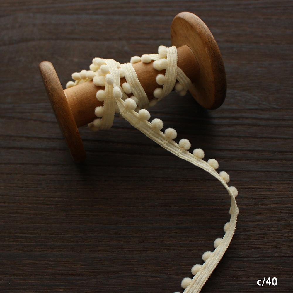 【16色】No,114-90 5mm幅 ポンポンテープ プチブレード/日本製