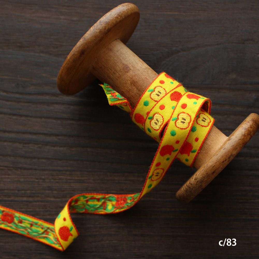 3957-13mm りんご柄チロリアンテープ