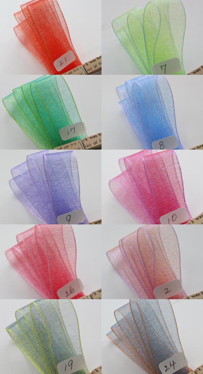 【26色/2幅】TMシャンブレーオーガンジーリボン 5m巻き&30m巻き