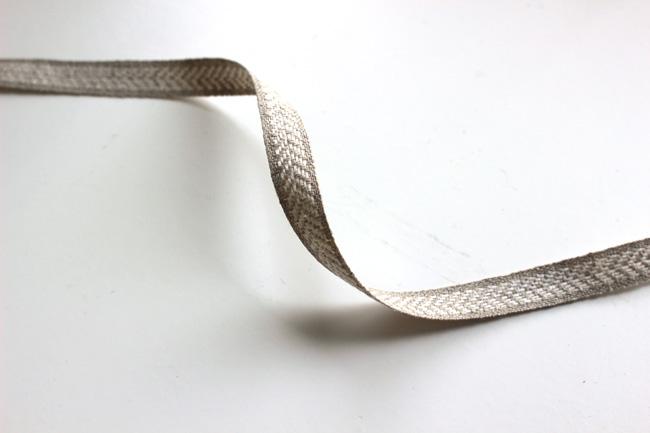 【7色】No,1157-10mm リネンリボン リネン100% ヘリンボーン柄テープ