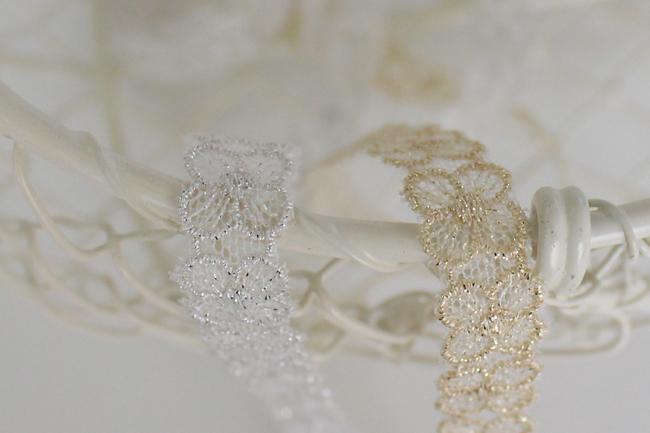【10mm/2色】MOKUBA62413・62414/00 4花弁のメタリックチュールレース