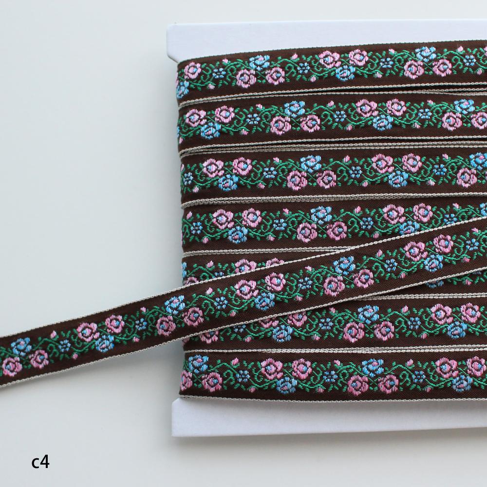 【5色/16mm幅】1342 ローズブッシュのチロリアンテープ ※デッドストック/日本製 1m単位