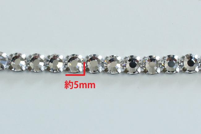 【1反単位】5mmプレシオサpreciosa一連クリスタルのラインストーン<br>1反10m巻き