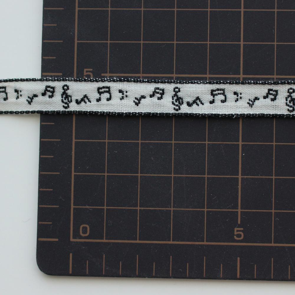4442-10mm 音楽の音符柄♪チロリアンテープ