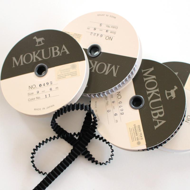 【8幅/36色】MOKUBA 0492プリーツサテンリボン/6m巻