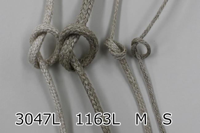 【2色/4mm】No,3047L リネン混スピンドル紐 30m巻