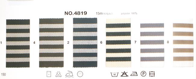 【54mm幅/6色】MOKUBA 4819-54mm幅ストライプグログランリボン/15m巻