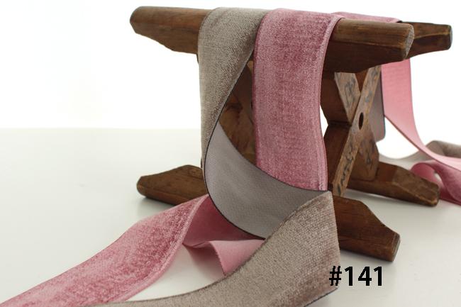 sic108 片面ベルベットリボン/10m巻<br>SHINDO社製 7幅32色<BR>Single face velvetten ribbon