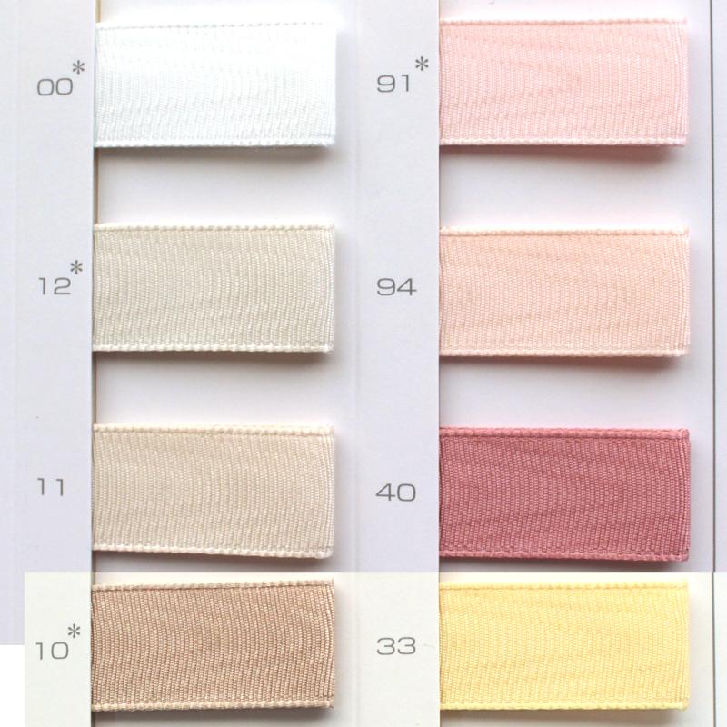 【5幅/28色】MOKUBA 1170 モワレサテンリボン/1反10m巻