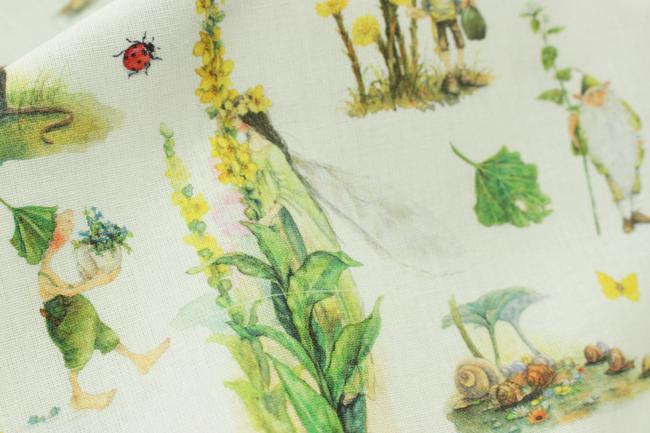 【140cm×50cm】acufactumギーズベルトの夏の庭 生地