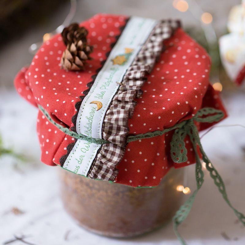 acufactumアクファクトゥム【50cm単位】約幅16mm-クリスマスクッキー柄ジャガードリボン