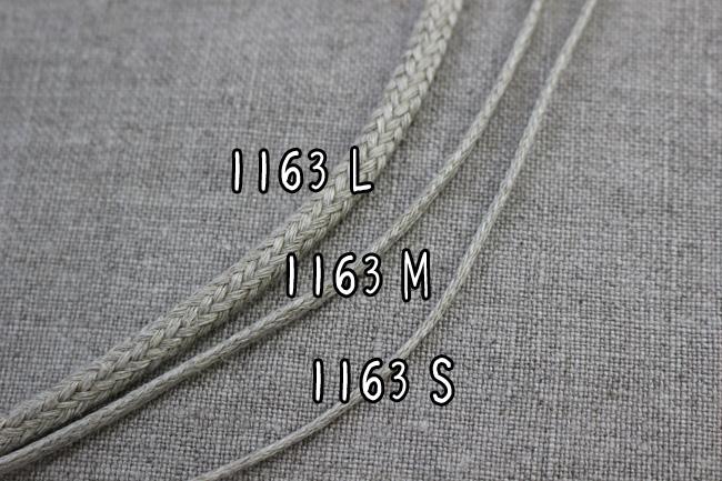 【3幅】No,1163 リネンスピンドル紐 リネン100% コード