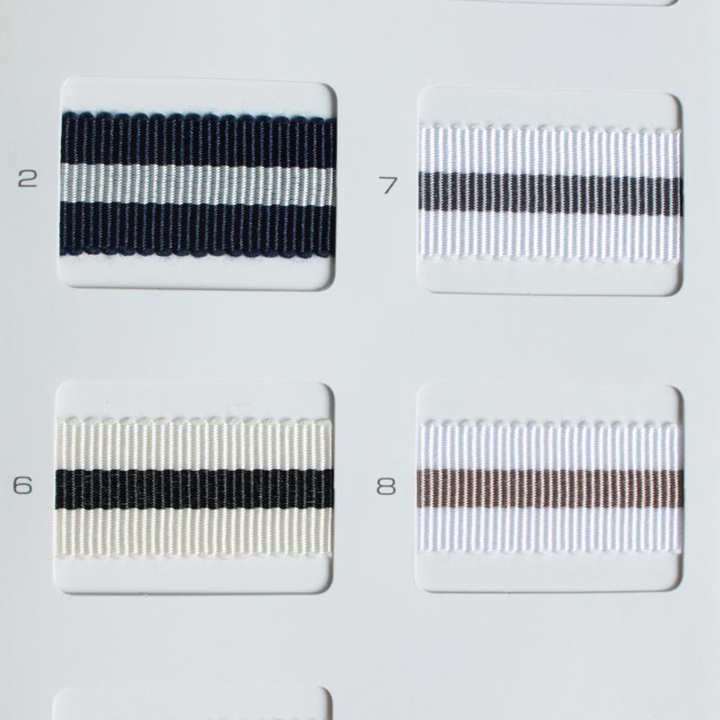 【約16mm幅/9色】MOKUBA  4816-16mm幅ストライプグログランリボン/15m巻