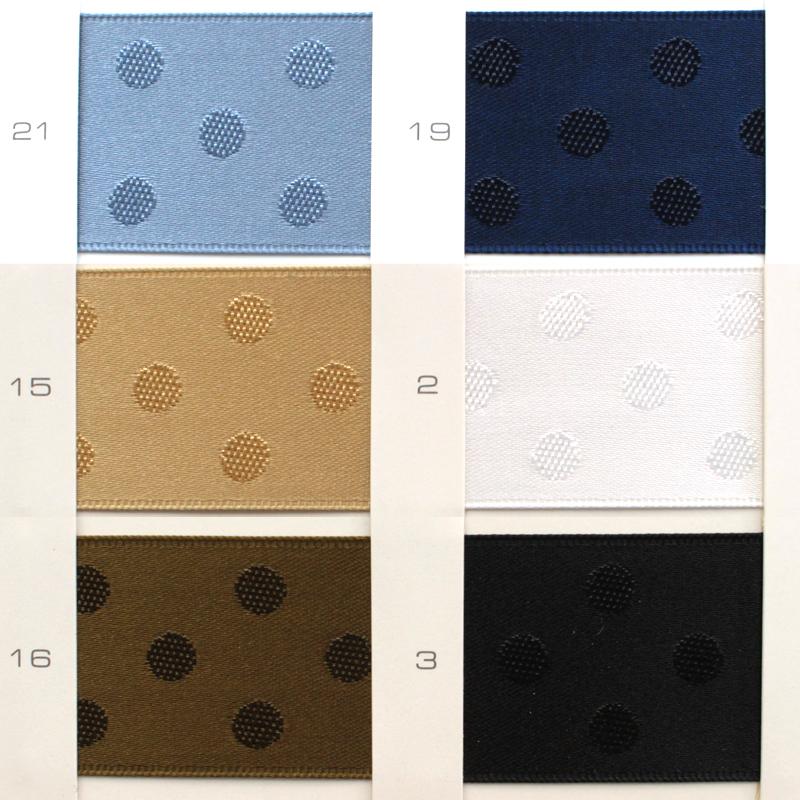 【4幅/20色】MOKUBA 4851ジャガードリボン/1反15m巻