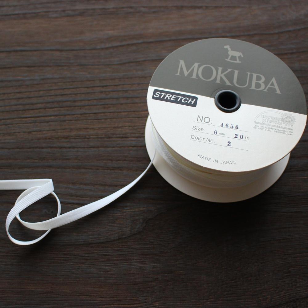 【3幅/24色MOKUBA4656 ストレッチグログランリボン/20m巻き
