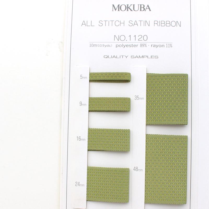 【6幅/32色】MOKUBA 1120オールステッチ両面サテンリボン/10m巻