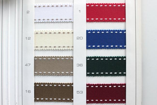 【5幅/15色】MOKUBA 4649K ステッチグログランリボン