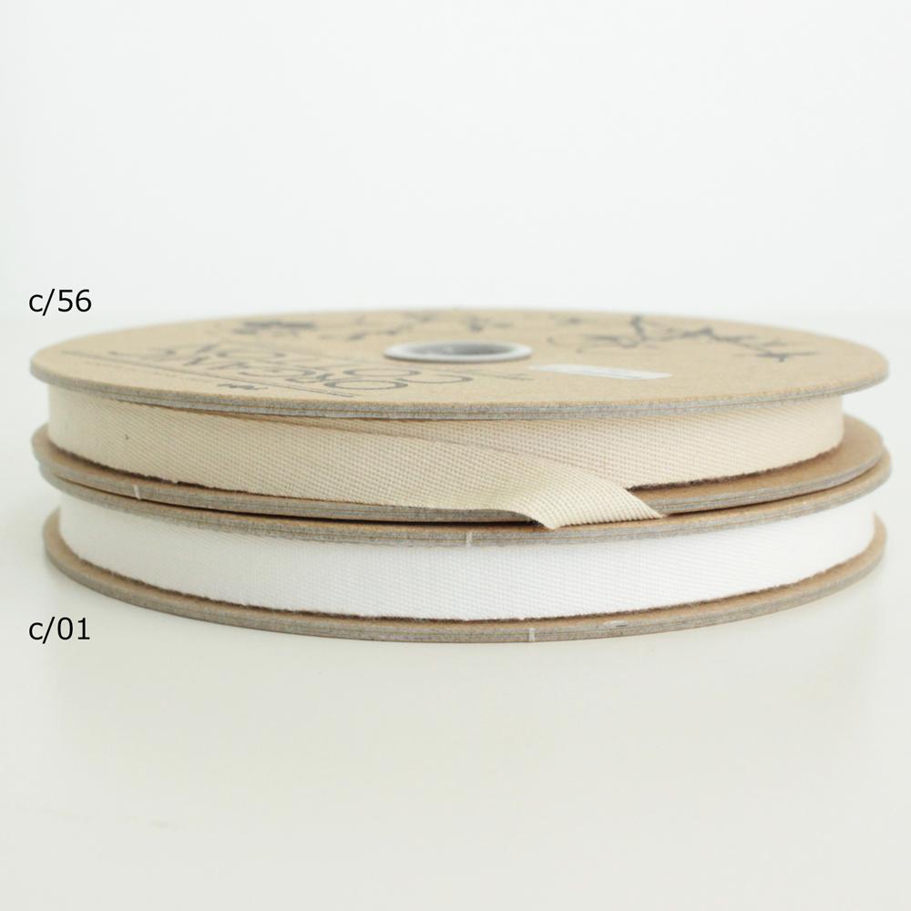【2色】No,1223-8mm オーガニックコットンリボン 斜文織り