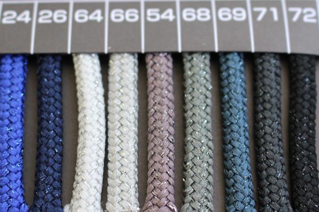 【3幅/50色】ラメコード3311.12.13ラメコード ポリエステル100%ラメスピンドルヒモ【50m巻き】