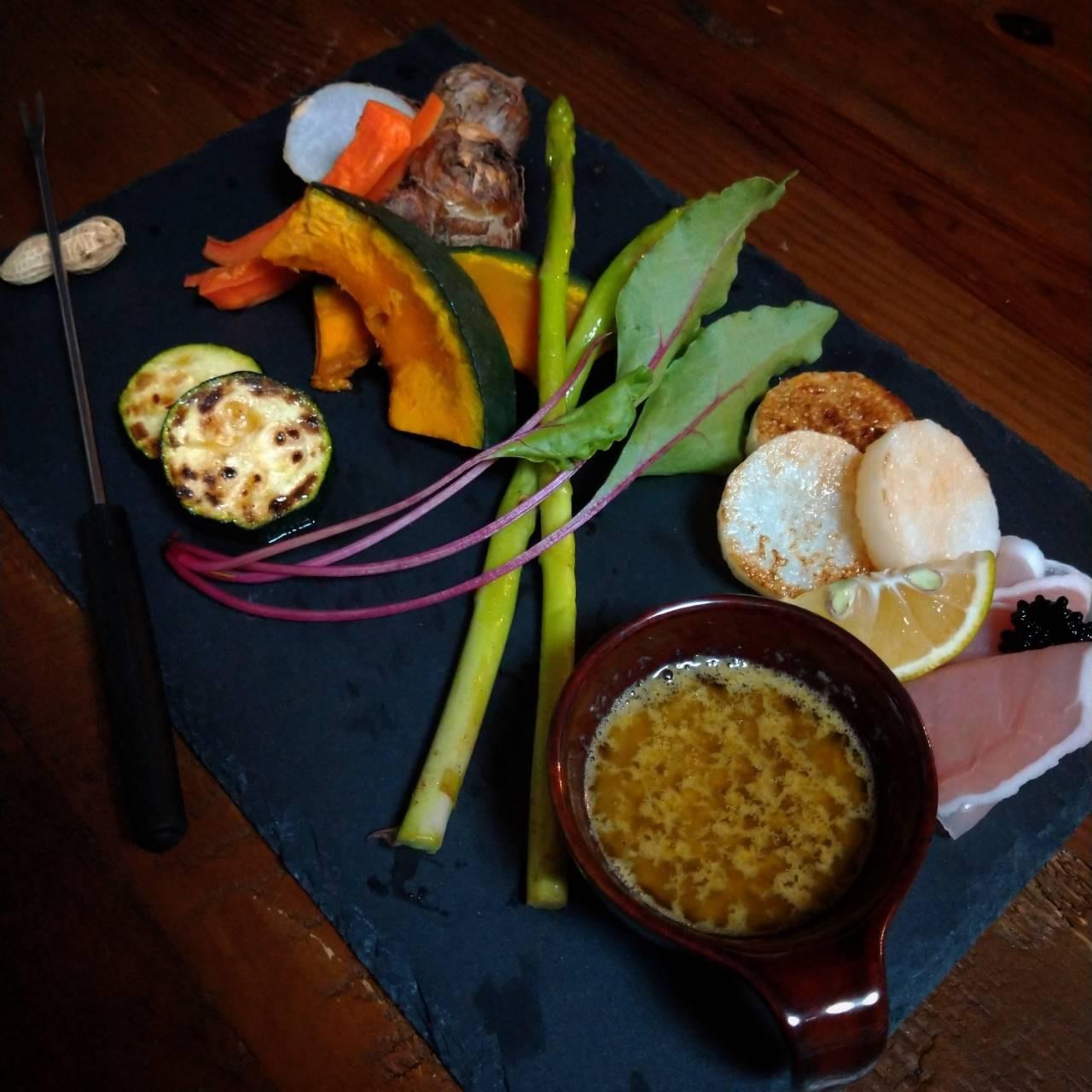 広島牡蠣のディップソース バーニャカウダ