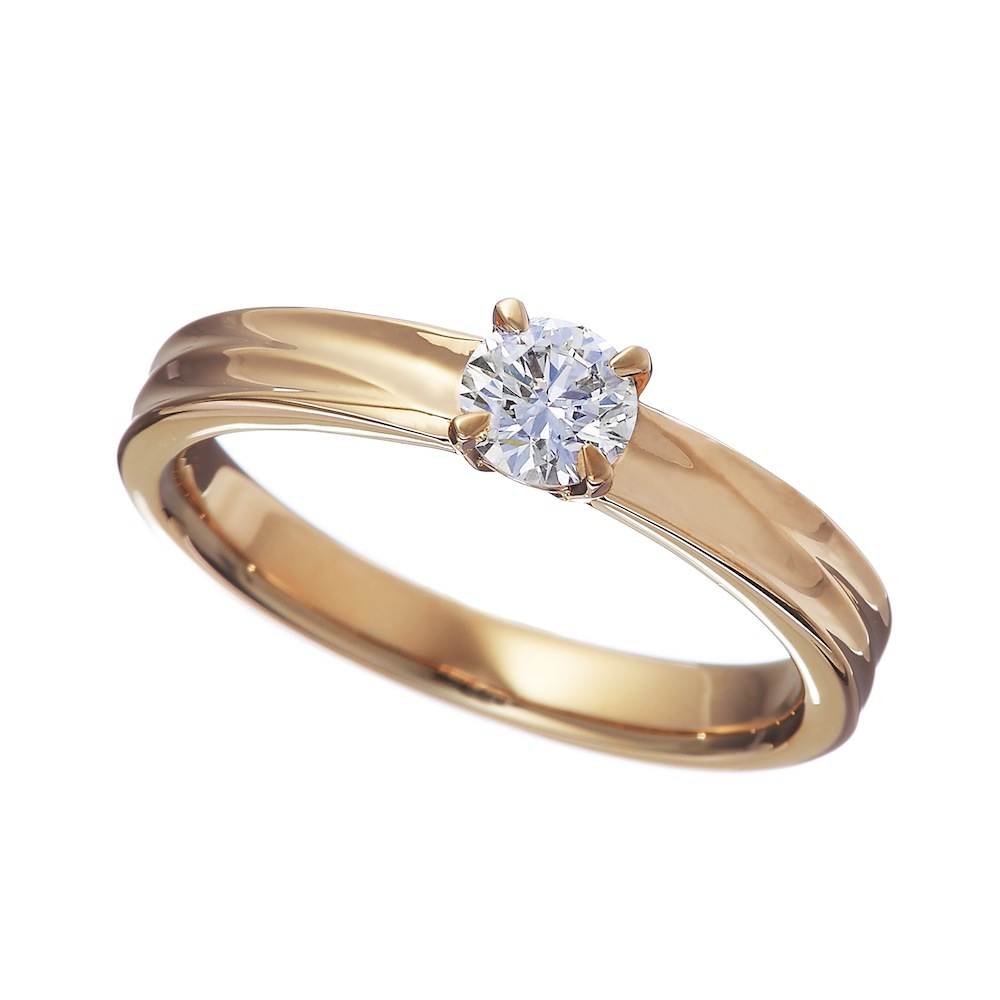 テラ ラボグロウン ダイヤモンド 0.3ct リング K18PG