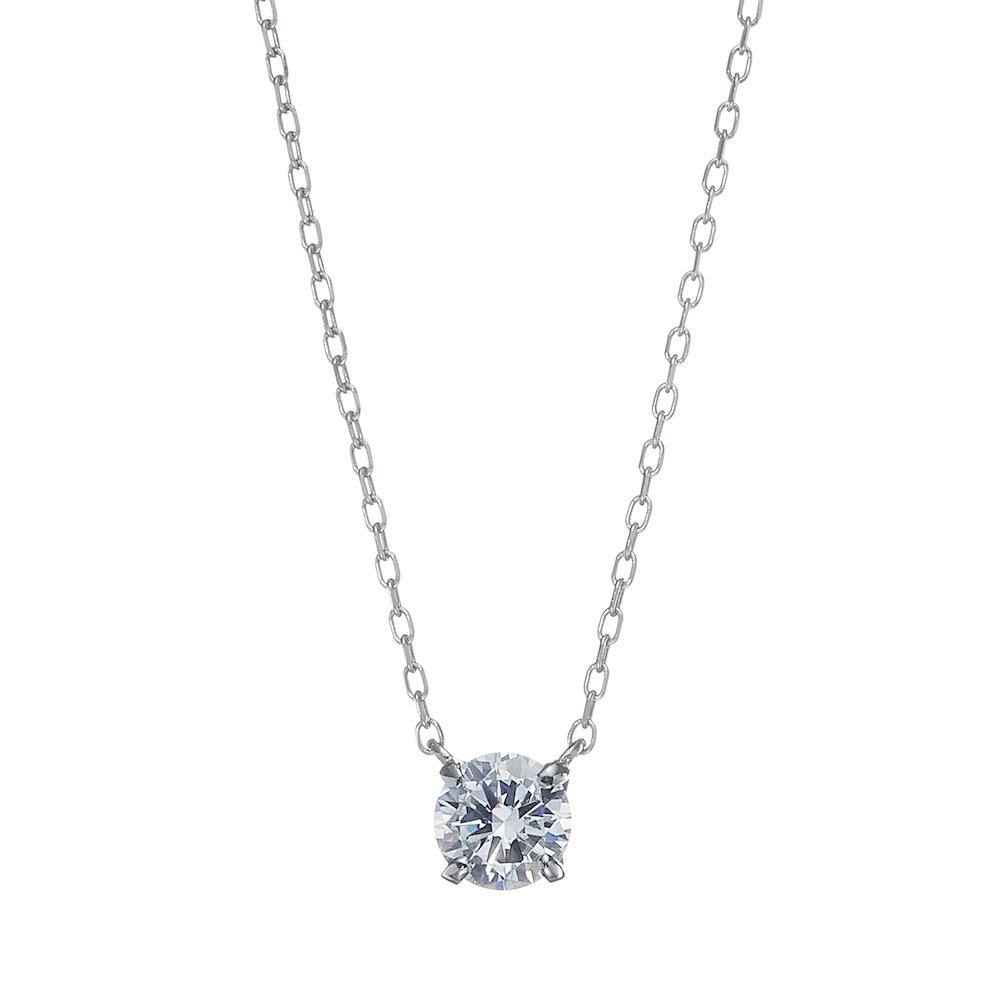 【ドラマ採用商品】UN 一粒 ラボグロウン ダイヤモンド 中石0.5ct 4本爪 ペンダント プラチナ