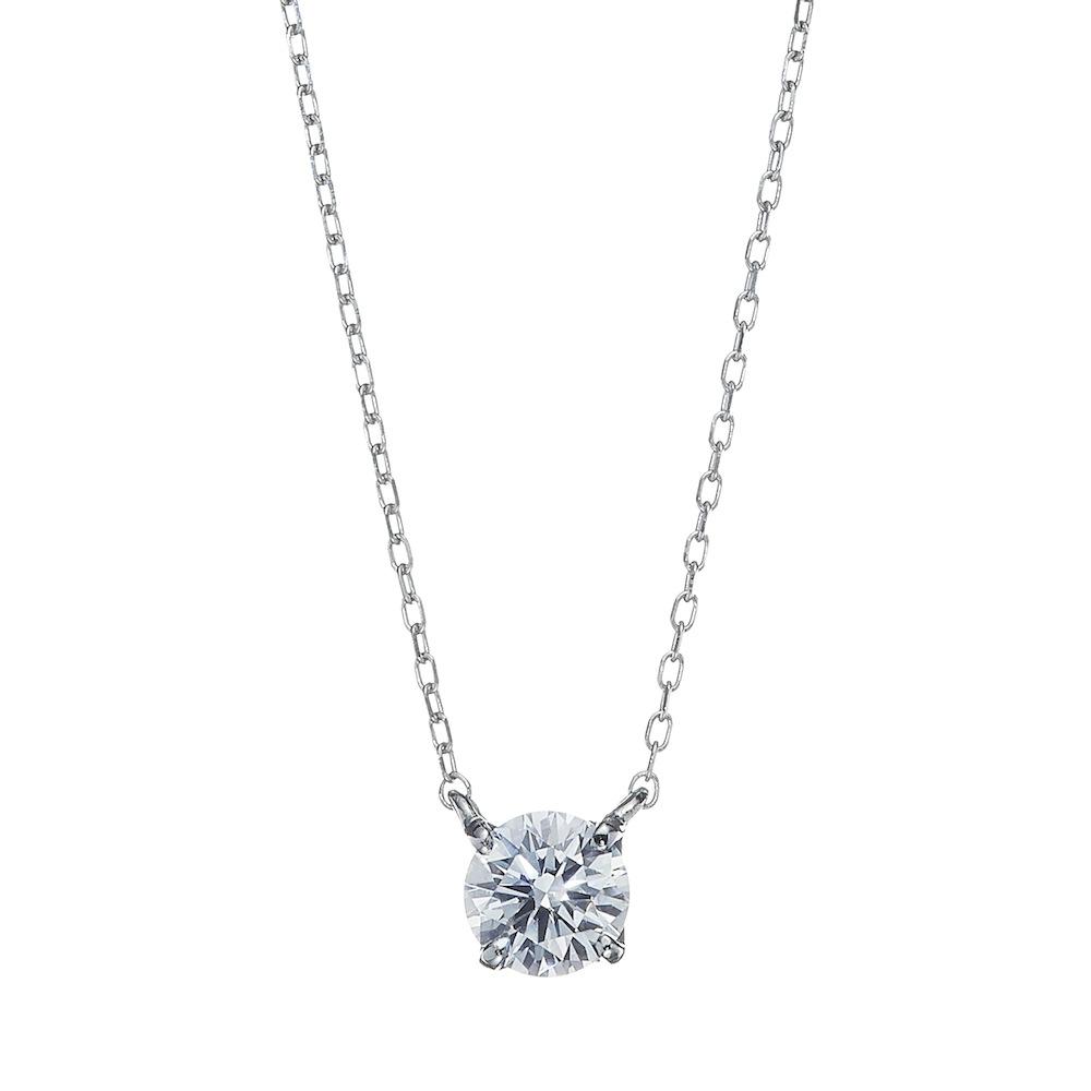 UN 一粒 ラボグロウン ダイヤモンド 中石0.7ct 4本爪 ペンダント プラチナ
