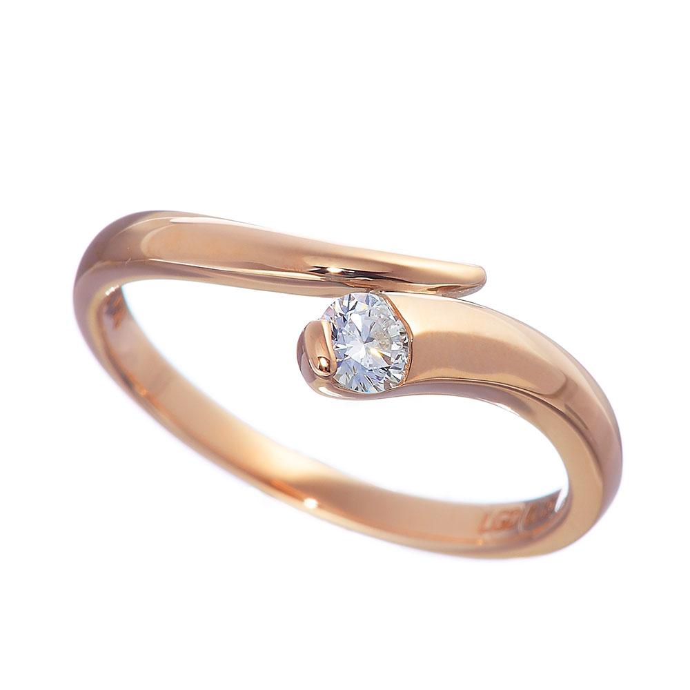 トラジェクトリー ラボグロウン ダイヤモンド 中石 0.15ct リング K18PG