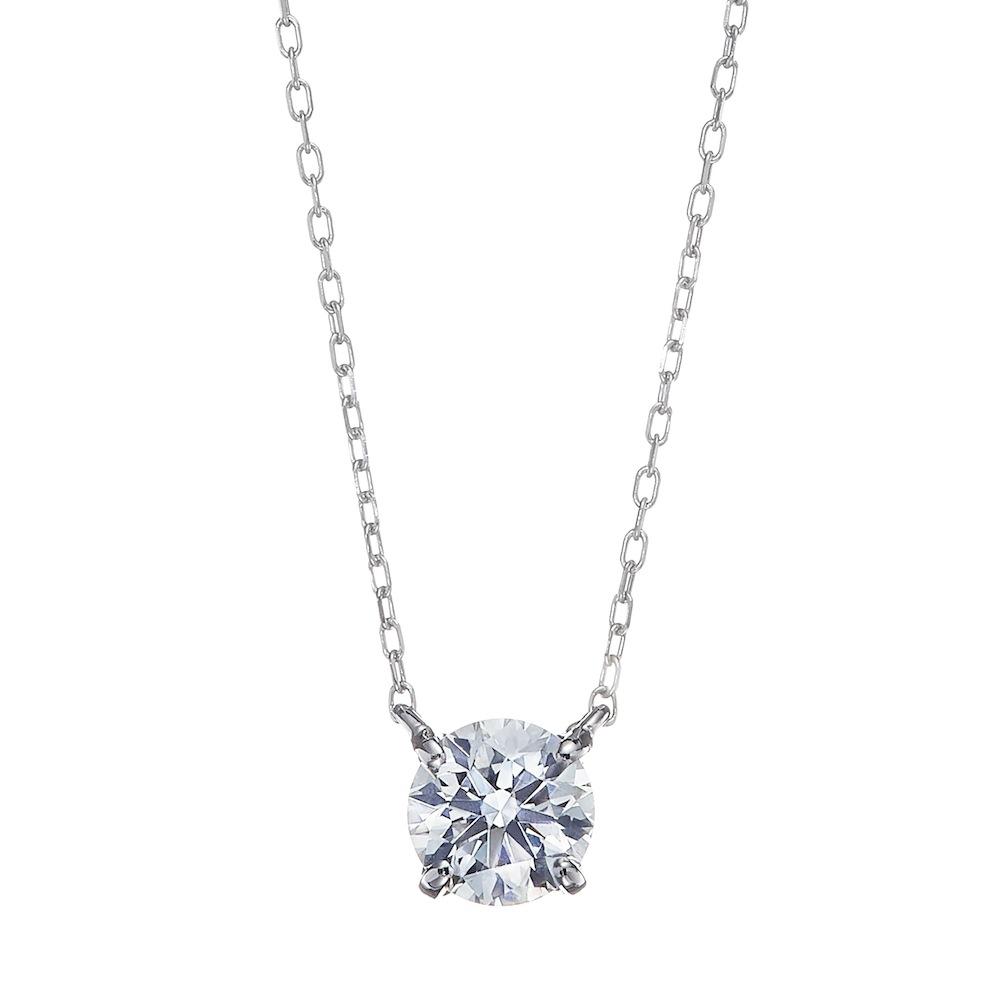 ブライト ラボグロウン ダイヤモンド 中石1.5ct 4本爪 ペンダント プラチナ