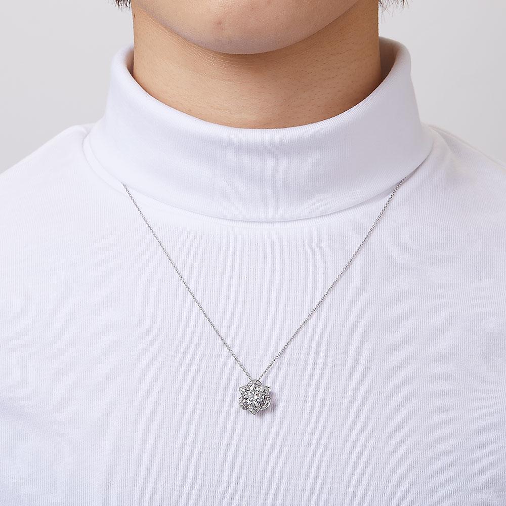 ラボグロウンダイヤモンド 2.0ct ペンダント K18WG