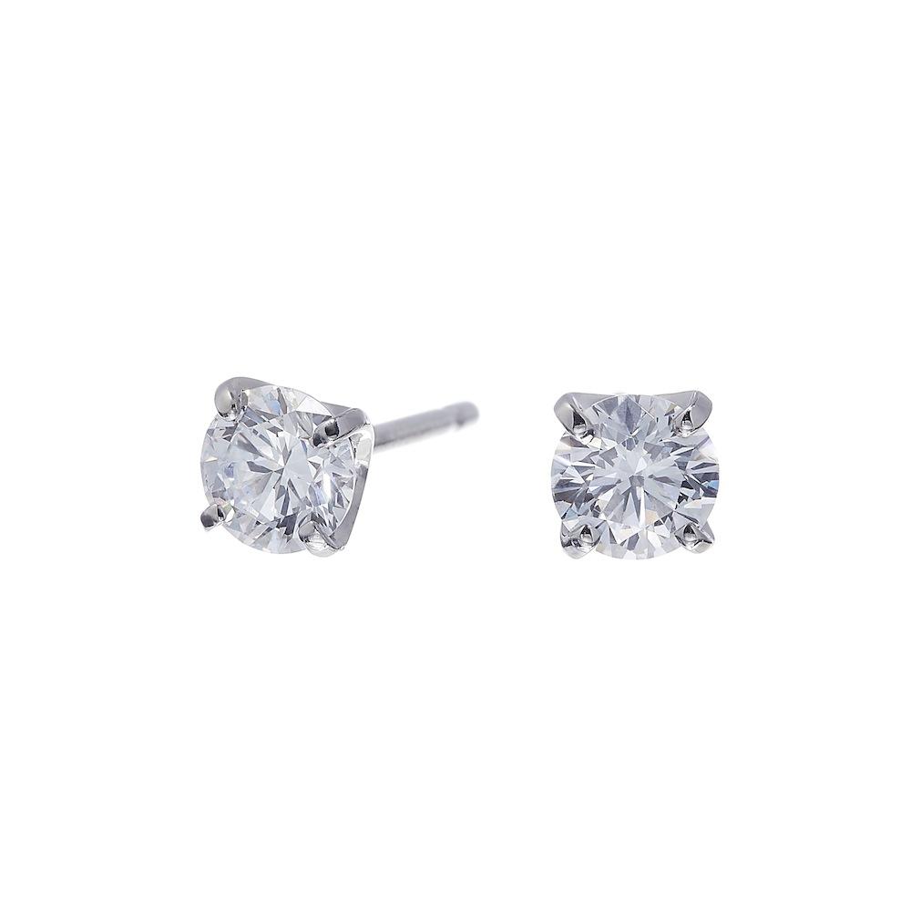 ブライト ラボグロウン ダイヤモンド 中石 0.3ct 4本爪 ピアス プラチナ