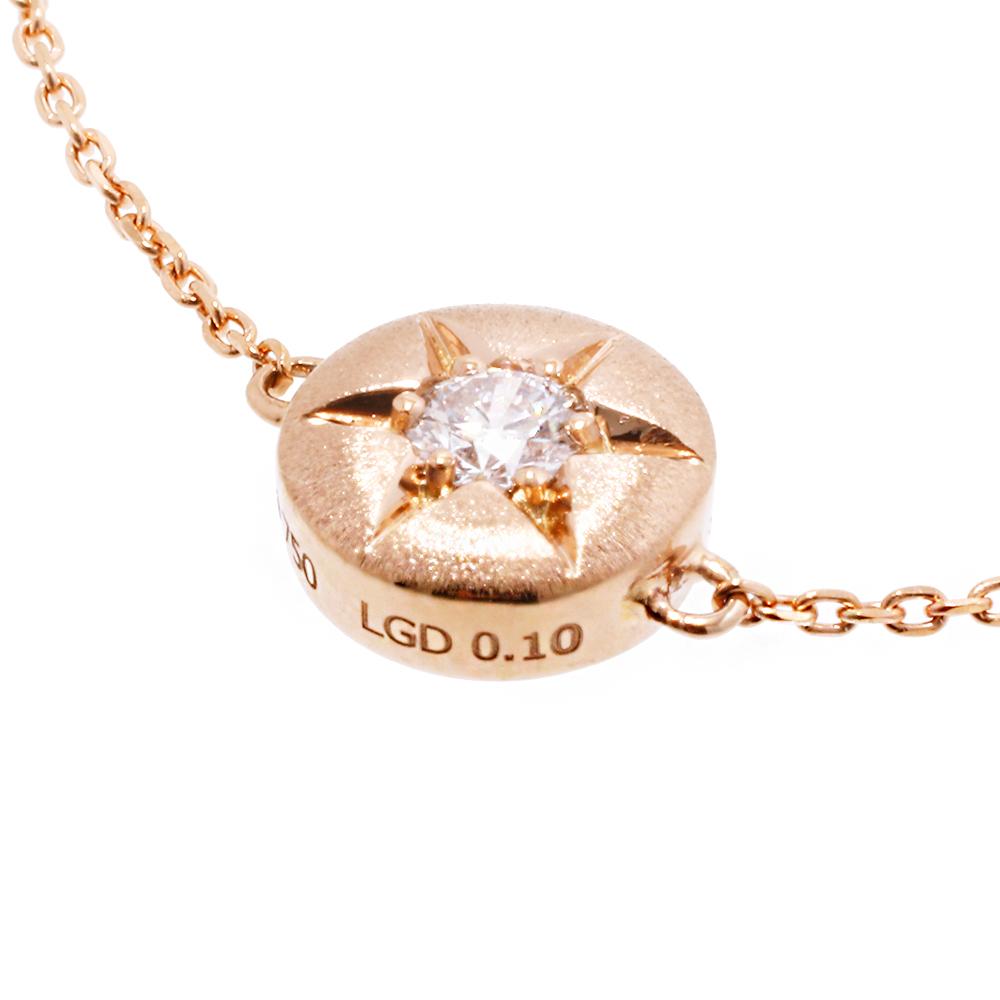 ブライト ラボグロウン ダイヤモンド 中石 0.1ct ブレスレット K18PG