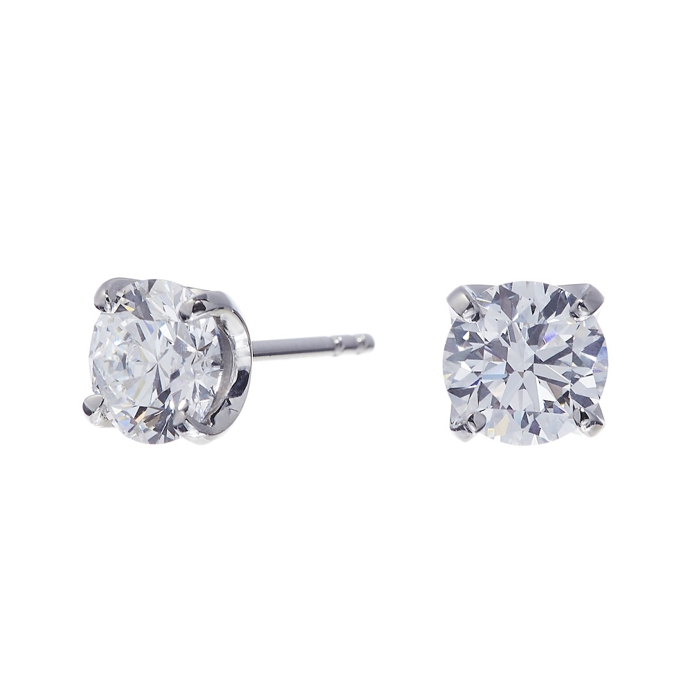 ブライト ラボグロウン ダイヤモンド 中石 0.7ct 4本爪 ピアス プラチナ